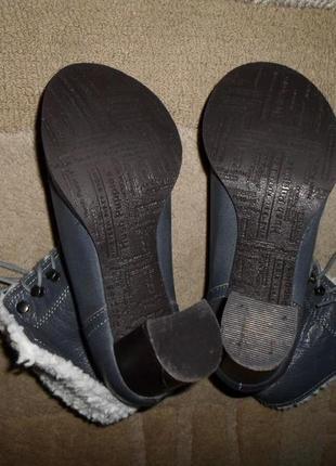 Крутые мягенькие утепленые бренд.ботинки hush puppies,кожа,сша5 фото