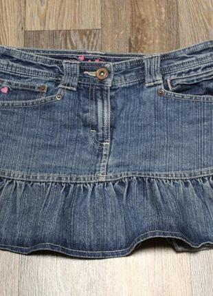 Джинсовая юбка next на девочку 13  лет в идеальном состоянии