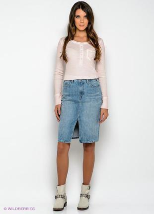 Крутенная джинсовая юбка s.oliver