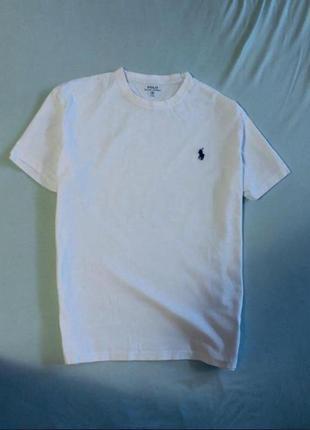 Поло футболка белая ralph lauren