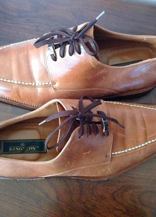 Кожаные мужские классические туфли. /42/brend kingston