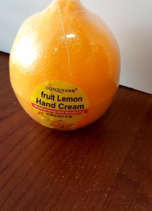 Питательный и увлажняющий крем для рук лимон