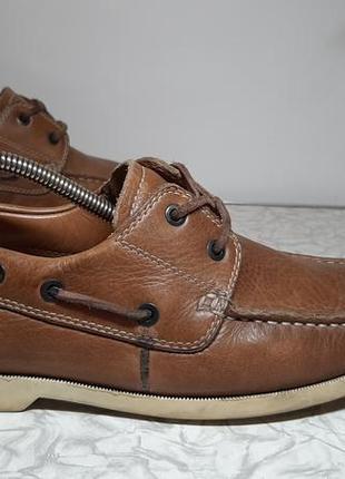 Кожаные топсайдеры,ботинки,туфли ecco (эко)