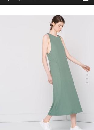 Платье лапша мятное pull&bear