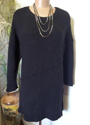 Пуловер-туника букле