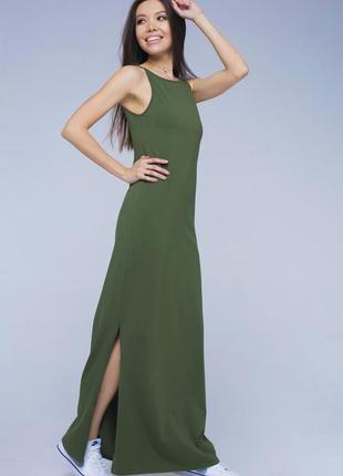 🔥🔥🔥стильное женское трикотажное платье, сарафан макси, в пол oasis🔥🔥🔥