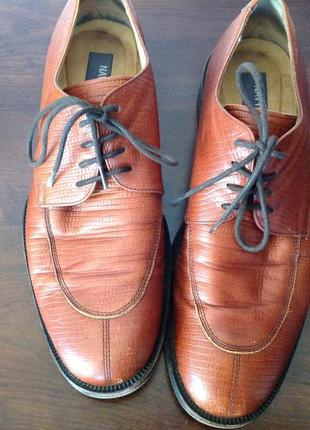 Кожаные мужские туфли. 42/brend navyboot