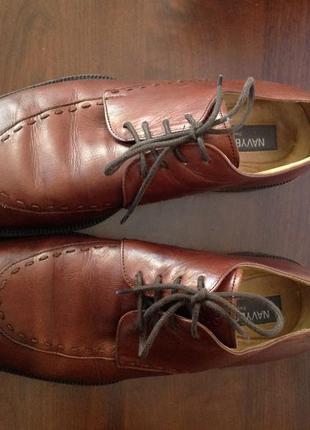 Кожаные мужские туфли./42/ brend navyboot