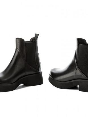 Чёрные ботильоны ботинки полусапоги челси (бесплатная доставка)