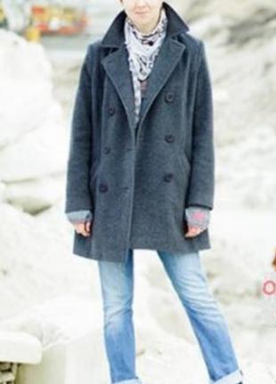 Базовое шерстяное двубортное пальто-бойфренд bhs
