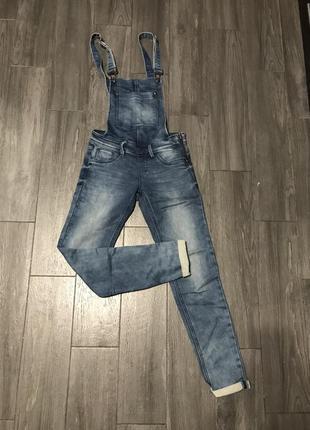 Комбинезон джинсовый плотный