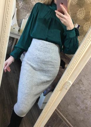 Очень тёплая юбка zara 16% мохер!!