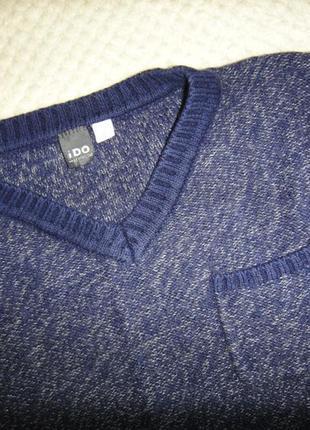 Фирменный теплый шерстяной свитер на мальчика