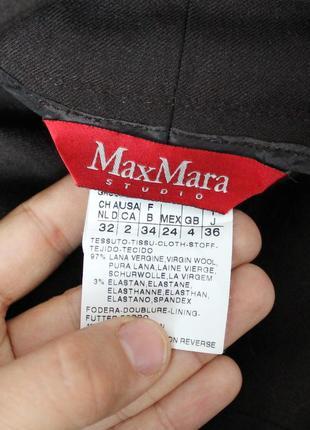 Коричневые шерстяные брюки от max mara studio, оригинал