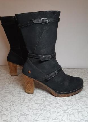 Кожаные деми сапоги,ботинки art (арт)