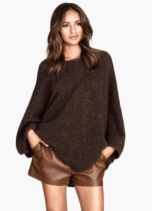 🍌модные коричневые кожаные шорты л-хл