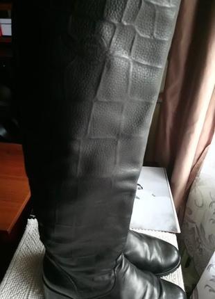 Высокие сапоги, ботфорты демисезон, кожа, фабричная польша, 40-41рр