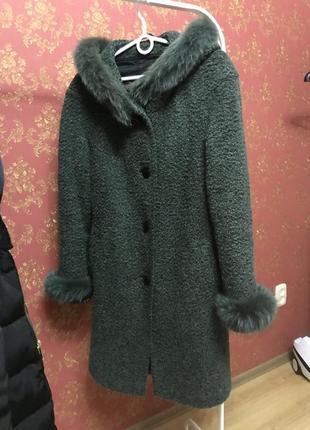 Тёплое зимнее пальто осень зима
