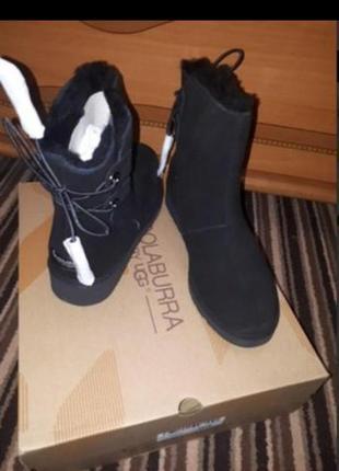 Замшевые зимние ботинки сапоги