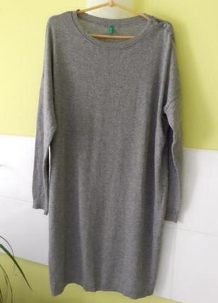 Шерстяное платье свитер от united states of benetton