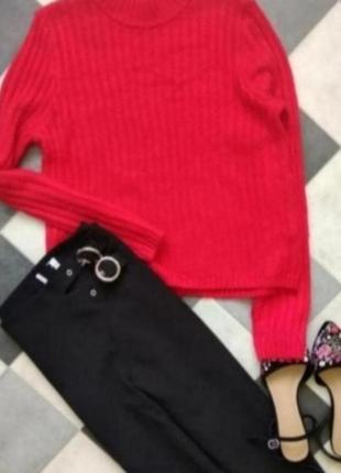 Красный свитер от h&m
