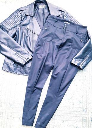 Стильные/укороченные/глянцевые брюки/штаны галифе с высокой посадкой as you/asos.