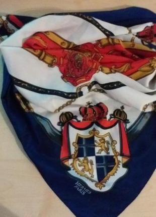 Hermes paris  шелковый платок