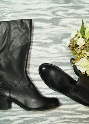 🌿бесплатная доставка🌿37🌿marco tozzi. кожа. фирменные ботинки, сапоги на удобном каблучке