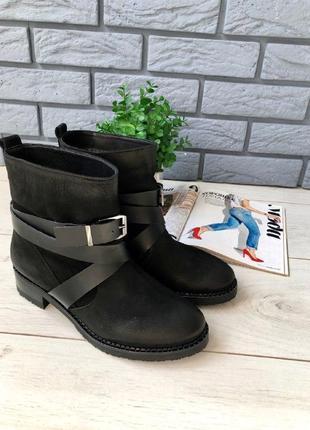 Женские нубуковые ботинки