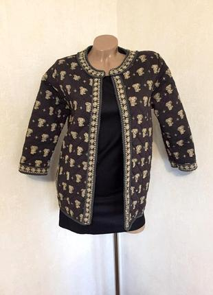 Накидка,куртка,кардиган,без застежки в принт,этно,бохо стиль, xs/s.