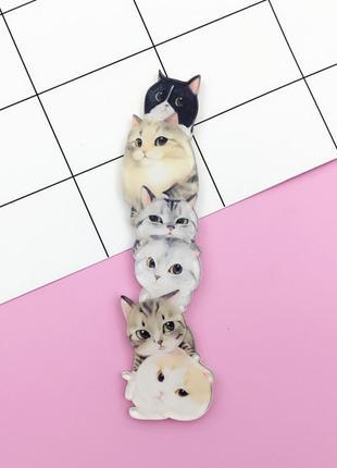 Брошь котики