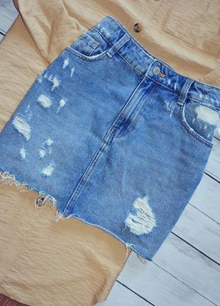 Шикарная джинсовая юбка от zara