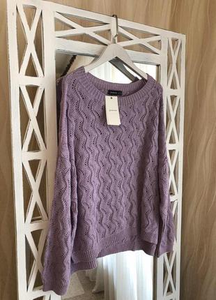 Красивый вязаный свитер с перфорацией stradivarius