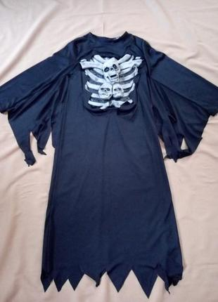 Карнавальное платье, балахон, зомби призрака на хэллоуин 9-10 лет