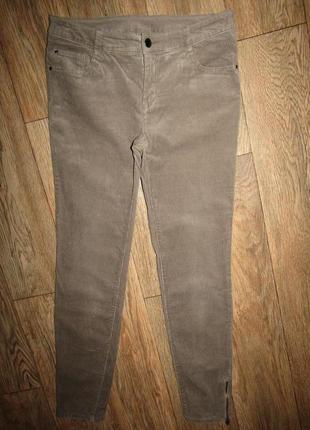 Зауженные брюки вельветки р-р 38-12 бренд yessica