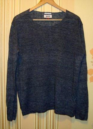 Тонкий льняной свитер tommy hilfider