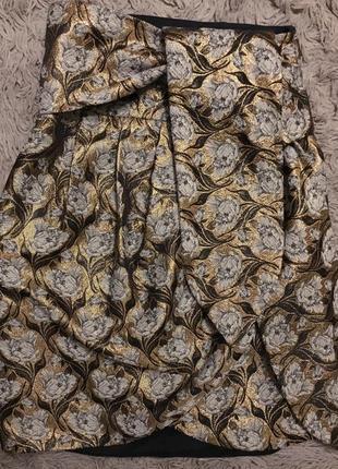 Нарядная юбка из парчи в новом состоянии размер s