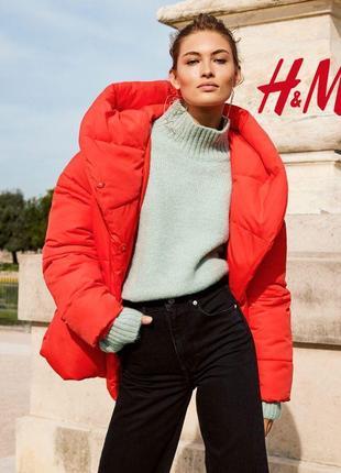 🔥 выбор знаменитостей! трендовая зимняя курточка одеяло хит сезона бренд h&m размер s-m-l