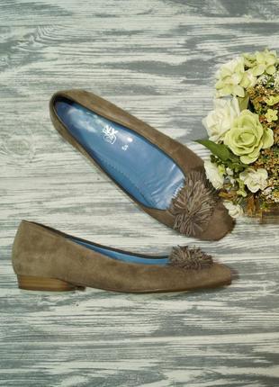 🌿бесплатная доставка🌿39🌿ara. замша, кожа. комфортные фирменные туфли на низком ходу