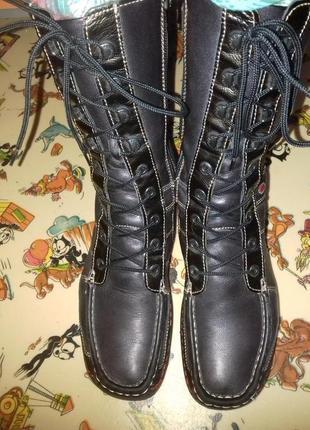 Ботинки кожаные деми wolky