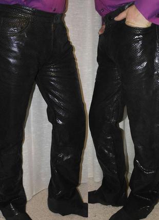 Кожа h&m clothes men leather для дерзких и смелых штаны змеиный узор