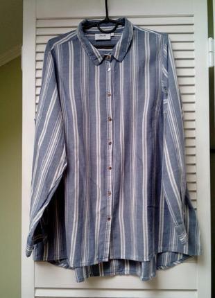 Фланелевая рубашка, удлиненная