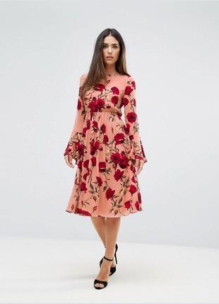 Милое платье club l в цветочный принт.