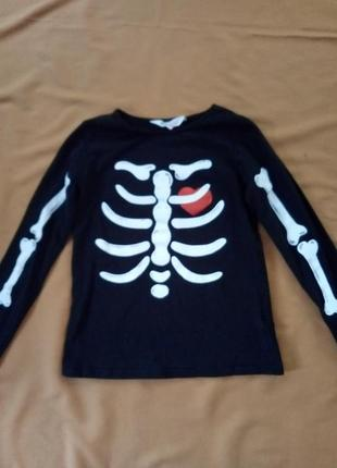 Кофточка для костюма скелета на хэллоуин