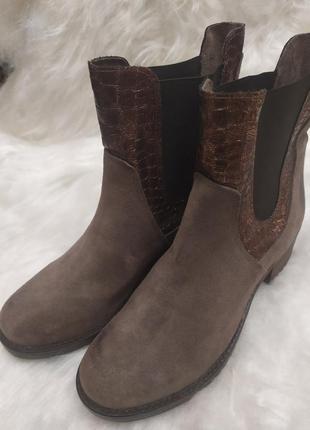 Новые ультрамодные ботинки челси
