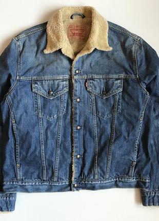 Шерпа джинсовая куртка levi's