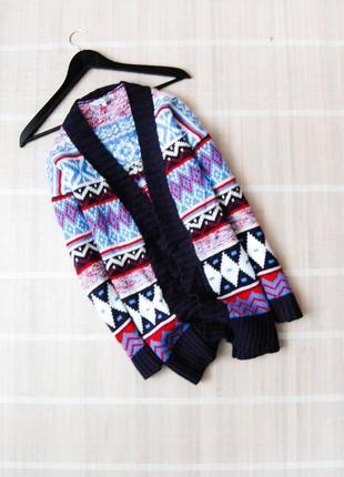 Шикарный теплый свитер кардиган peacocks