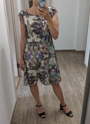 Платье orsay миди шифон 40-42 размер, міді платтяшифонове орсей