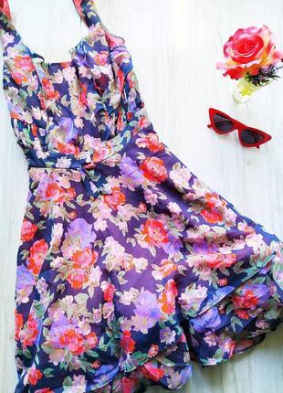 Яркое цветастое платье 😍