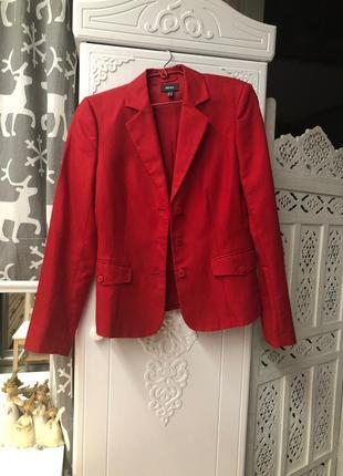 Красный пиджак mexx лён-хлопок